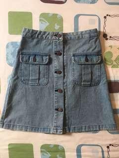 GU A Line Denim Skirt
