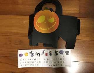 香港迪士尼 萬聖節限定 南瓜籃 加貼紙