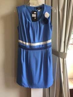 Dress biru baru Korea - Baru dgn tag