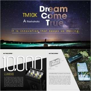 (10,000 Lumens) Nitecore TM10K Tiny Monster Rechargeable LED Flashlight