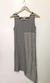 Mango asymmetrical shift dress
