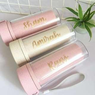 Customisable calligraphy Day gift gifts present class presents Friend friends birthday bottle Students Teacher Graduation customised water waterbottle Personalised graduation staff colleague colleagues farewell tumbler tumblers corporate staffs