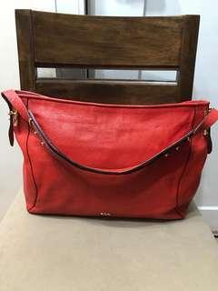 Authentic Lauren by Ralph Lauren Leather Hobo Shoulder Bag