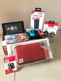 Nintendo switch (Red/Blue) + 1 Game + Accessories