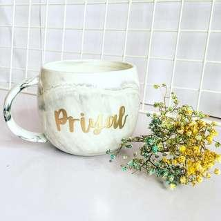 Customisable cup calligraphy anniversary farewell event Day gift gifts present presents Friend housewarming birthday Mugs Mug teacher Coffee office customised company couple Colleagues Colleague Personalised corporate cups marbled wedding marble