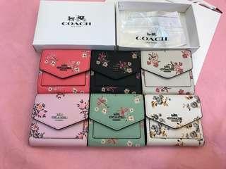 Ready Stock women floral short purse wallet
