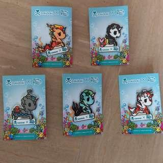 Tokidoki x River Safari Mermicorno Pins