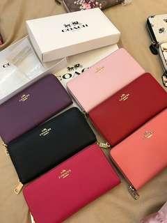 Ready Stock women long wallet purse pouch coin bag