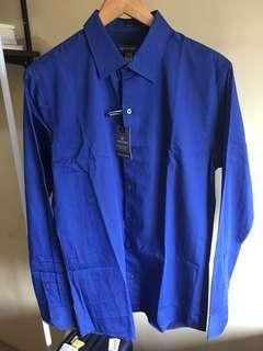 Van Heusen Slim Fit long-sleeves Dark Blue stripes