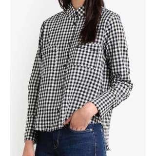 MANGO Checkered Shirt