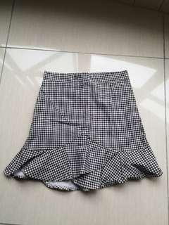 Black & White checked skirt