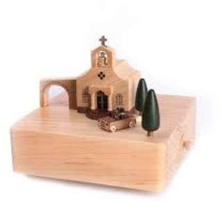 Wooderful Life City Wooden Music Box: Wedding Church