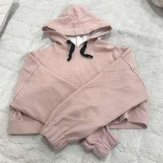 Thick Cropped Hoodie