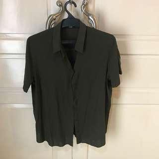 UNIQLO Army Green Shirt