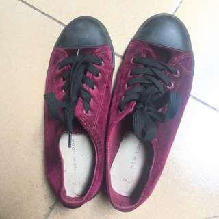 New Look Velvet Sneakers