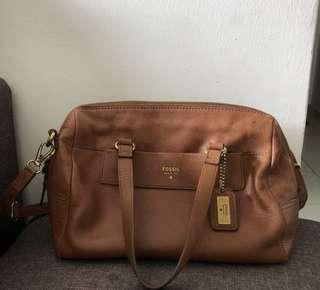 Authentic Fossil Satchel Preloved