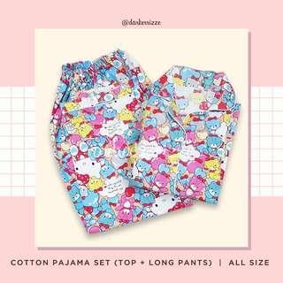 Hello Kitty Cotton Pajamas Set