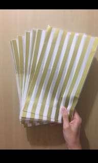 [全新] 半張A4紙size 金色直間包裝紙袋 30個