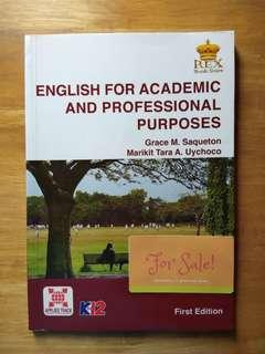 SHS Book: English for Academic & Professional Purposes