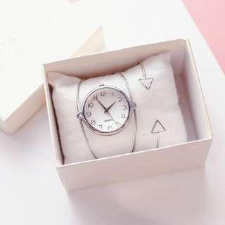 Chic Metal Watch (With free battery!)