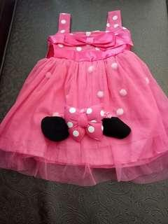 Dress anak set bando