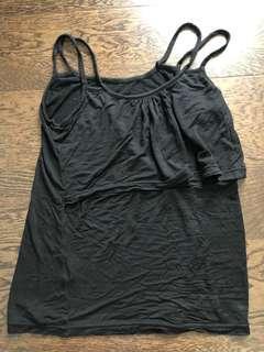 Black nursing bra