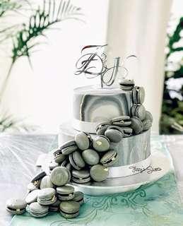 Z&K Cursive Initials Customised Cake Topper