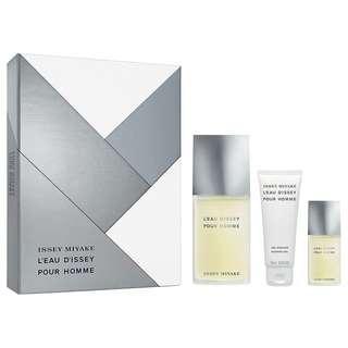 🚚 Issey Miyake L'eau D'issey EDT 3 Pcs Gift Set for Men (125ml+15ml+ShowGel) Leau Dissey