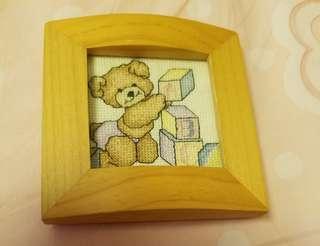 熊寶刺繡相架 embroidered photo frame