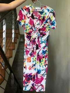 Modern batik midi dress