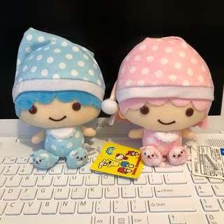 Sanrio little twin stars 雙子星 kiki lala ts twinstar 公仔 熊仔睡衣造型