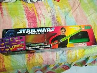 Star wars potp lightsaber with kenner catalog