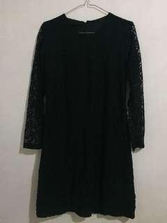 Dress broklat hitam