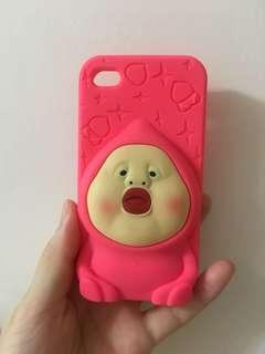 全新立體臭比頭iPhone 4/4s 手機殼。軟膠殻 矽膠