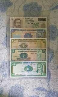 Nicaragua banknotes