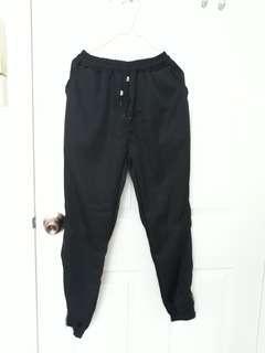 Black Joggers/Sweatpants with Zip Detail