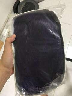 INSTOCKS Cosplay Purple Black Wig 1m