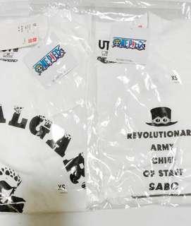 Trafagar Law Shirt Sabo One Piece XS Size Japan Uniqulo