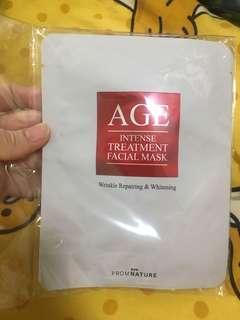 AGE INTENSE TREATMENT FACIAL MASK 美白抗皺面膜5片