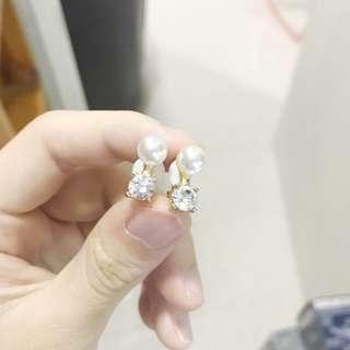 珍珠閃石耳夾