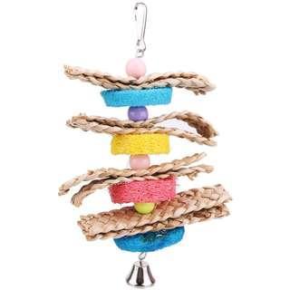 Parrot colourful loofah sponge toy