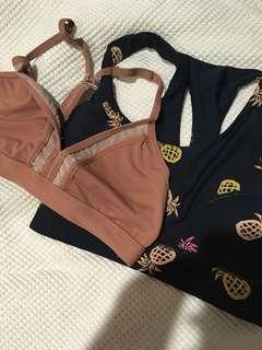 2x cotton on body sports bras