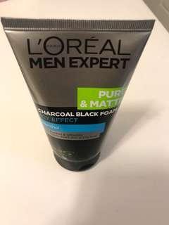 loreal paris men expert pure & matte black foam