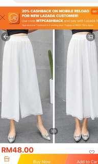 Loose White Culottes