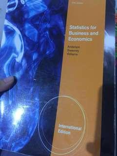 Statistics for Business and economics by Anderson sweeney Williams