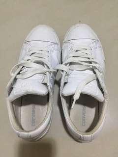🚚 2⃣️✋🏻Converse 全白皮革短筒鞋
