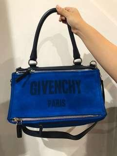 Givenchy Pandora Top Handle Blue Silver Frmale