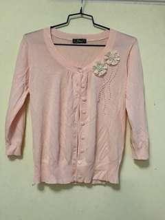 粉色外套, 棉線料,細至中碼9成新