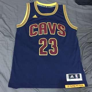 🚚 [M號] ADIDAS NBA JAMES 23號 騎士隊 藍 橘黃 球衣 超新二手 奪冠球衣