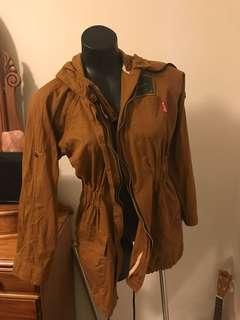 Ladies jacket mustard